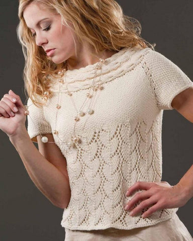 Women's Summer Knitted Blouse, 41S - KnitWearMasters