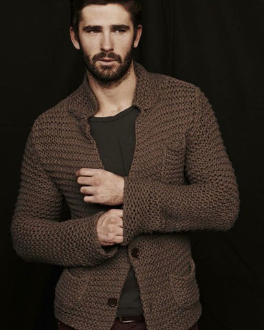 Men's hand knit cardigan 32A - KnitWearMasters