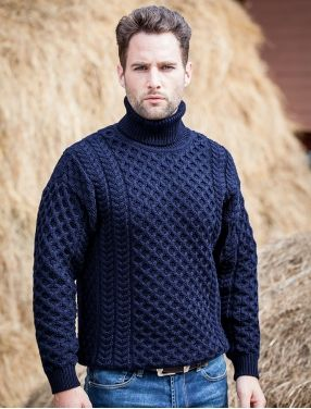 Men's Hand Knit Sweater 153B - KnitWearMasters
