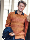 Men's Hand Knit Crewneck Sweater 250B - KnitWearMasters