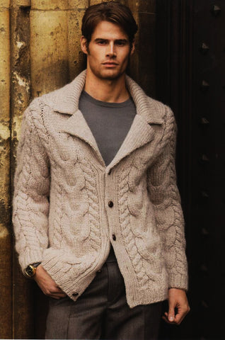 MENS HAND KNIT WOOL CARDIGAN 110A - KnitWearMasters