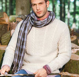 Men's Hand Knit Crewneck Sweater 229B