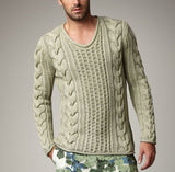 Men's Hand Knit Crew Neck Sweater 136B