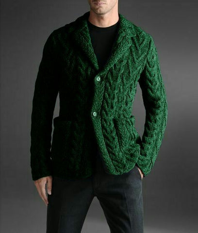 Men's hand knit cardigan 23A - KnitWearMasters