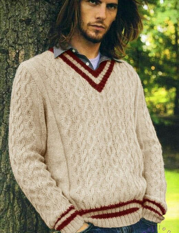Men's Hand Knit Sweater 273B - KnitWearMasters