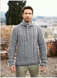Men's Hand Knit Turtleneck Sweater 288B - KnitWearMasters
