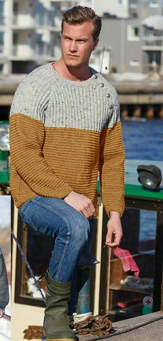 Men's Hand Knitted Crewneck Sweater 287B - KnitWearMasters