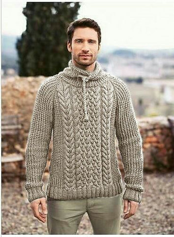 Men's Hand Knit Turtleneck Sweater 294B - KnitWearMasters
