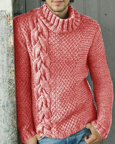 Men's Hand Knitted Wool Turtleneck Sweater 295B - KnitWearMasters