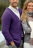 MADE TO ORDER Men hand knit cardigan 266A - KnitWearMasters