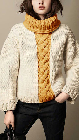Women's Hand Knit Turtleneck Sweater 101K - KnitWearMasters