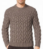 Men's Hand Knit Crew Neck Sweater 264B - KnitWearMasters