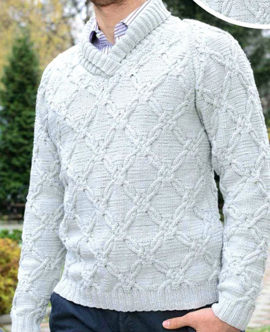 Men's Hand Knit Sweater 199B