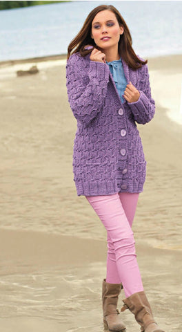 Womens Hand Knit Cardigan.139D