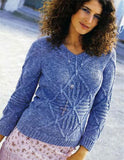 Women's Hand Knit V-neck Sweater 52J - KnitWearMasters