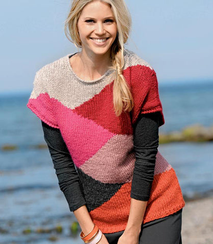 Womens Hand Knit Wool Vest 40N