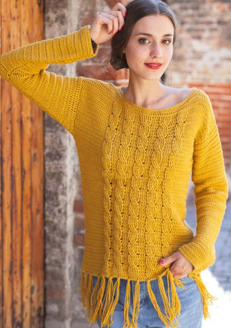 Women Crochet Blouse, 24S