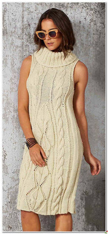 Women's Hand Knit Dress 40E - KnitWearMasters