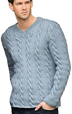 Men's Hand Knit Sweater 196B