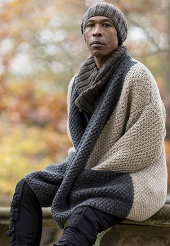 Men's Hand Knit Wool Long Cardigan 6A - KnitWearMasters