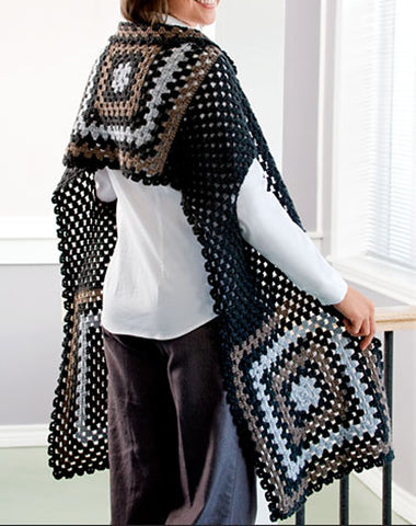 Womens Hand Knit Wool Cape 19N - KnitWearMasters