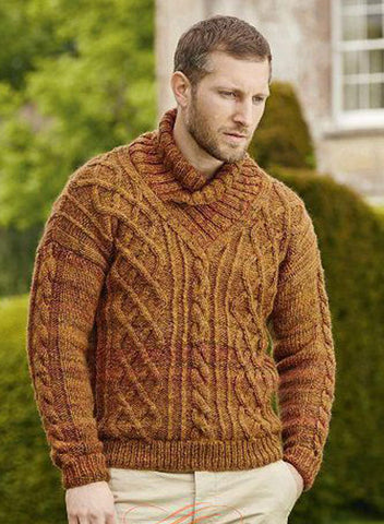 Men's Hand Knit Sweater 197B - KnitWearMasters