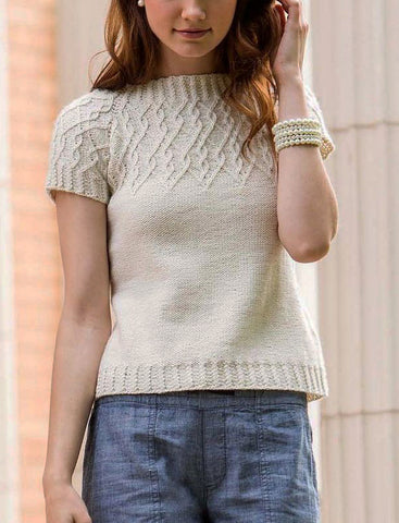 Women's Summer Knitted Blouse, 43S - KnitWearMasters