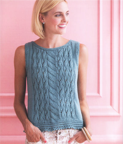 Women's Summer Knitted Blouse, 45S - KnitWearMasters