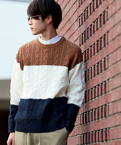 Men's Hand Knit Sweater 142B