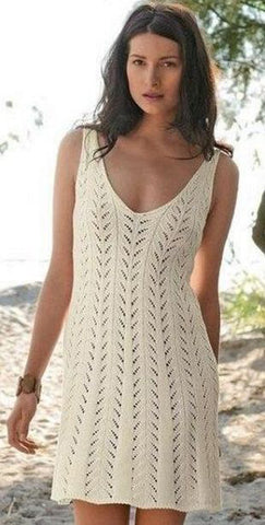 Made-to-order Women Crochet Dress, 18S - KnitWearMasters