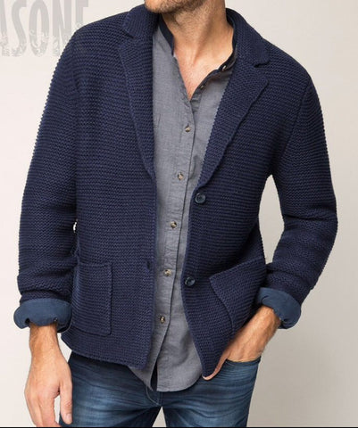 Men's Hand Knit Cardigan 261A - KnitWearMasters