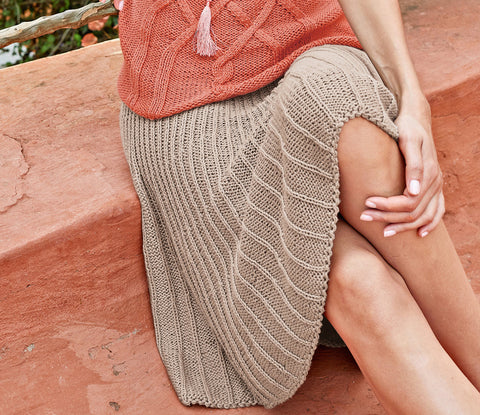 Women's Hand Knit Skirt 77E - KnitWearMasters