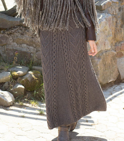 Women's Hand Knit Skirt 87E