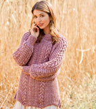 Women Hand Knit Crew Neck Sweater 81G - KnitWearMasters