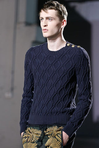 Men's Hand Knit Sweater 144B - KnitWearMasters