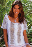 Women's Summer Hand Knit Blouse, 49S - KnitWearMasters