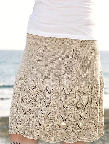 Women's Hand Knit Skirt 75E - KnitWearMasters