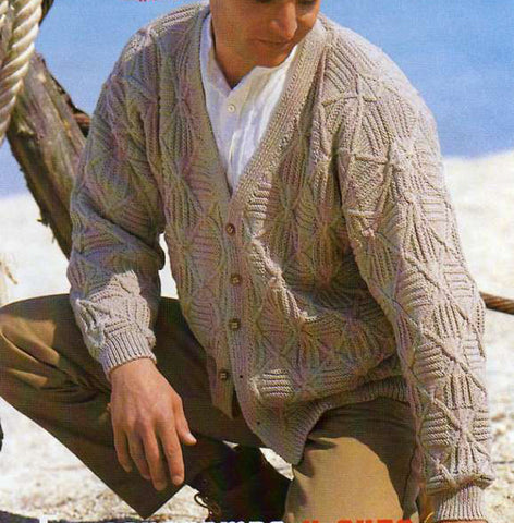 MENS HAND KNITTED WOOL CARDIGAN 94A - KnitWearMasters