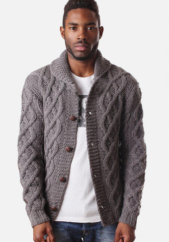 Men's Hand Knit Cardigan 262A - KnitWearMasters