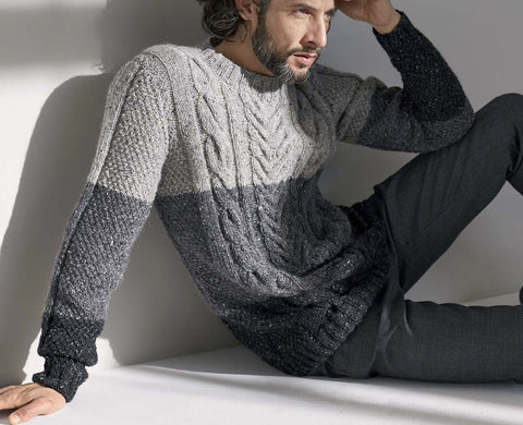 Men's Hand Knit Crewneck Sweater 240B - KnitWearMasters