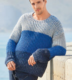 Men's Hand Knit Crewneck Sweater 241B