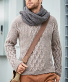 Men's Hand Knit Crewneck Sweater 243B - KnitWearMasters