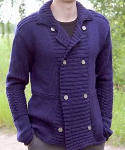 MENS HAND KNITTED WOOL CARDIGAN 96A