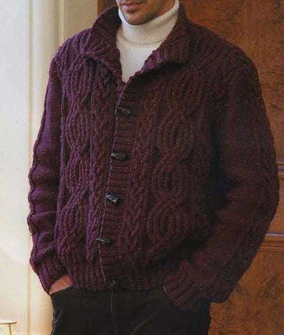 MENS HAND KNITTED WOOL CARDIGAN 95A - KnitWearMasters