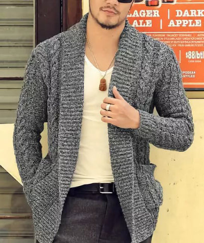 MENS HAND KNITTED WOOL CARDIGAN 97A