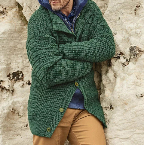 MENS HAND KNITTED WOOL CARDIGAN 100A - KnitWearMasters