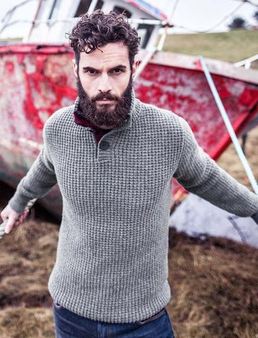Men's Hand Knit Sweater 213B - KnitWearMasters
