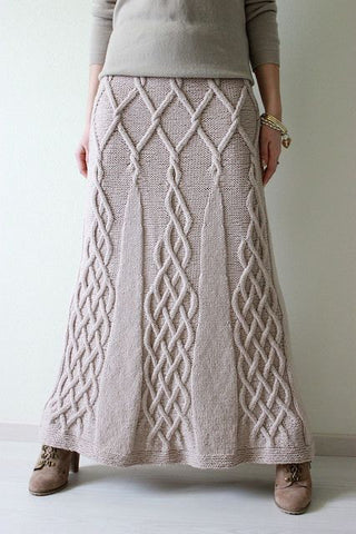 Women's Hand Knit Skirt 88E