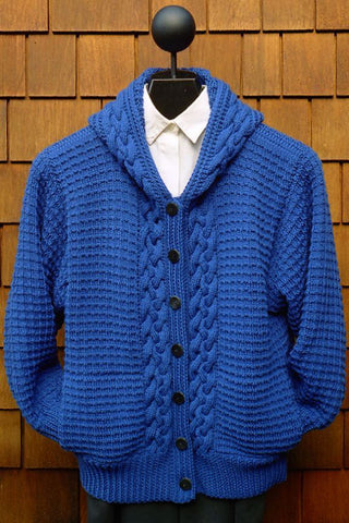 Men's hand knit cardigan 39A