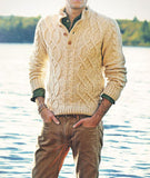 Men's Hand Knitted Polo Sweater 51B